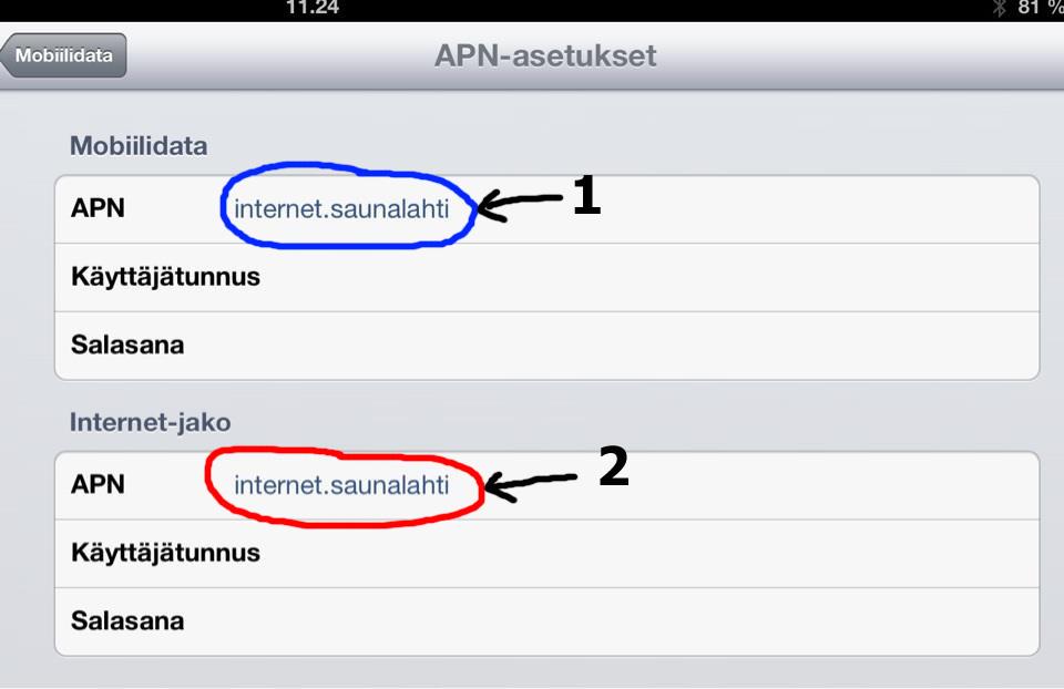 iPad 3, Saunalahti ja internetyhteyden jakaminen (hotspot)